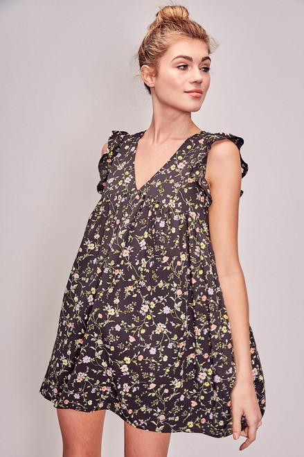 Harlow Dress/Romper - Black