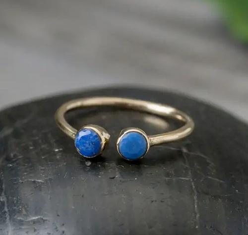 Brass Lapis Ring