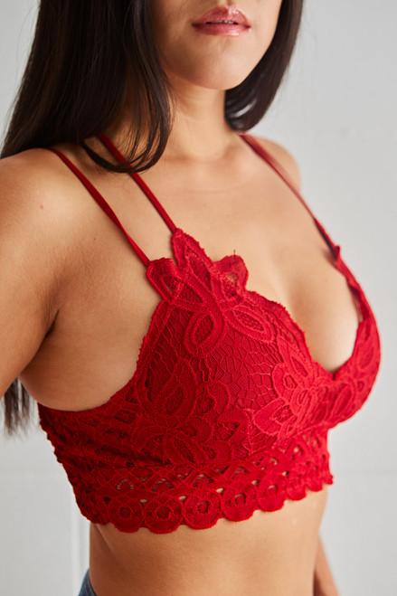 Luna Bralette - Red