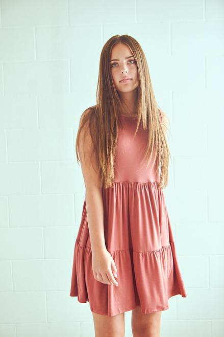 Sweet Home Dress - Marsala