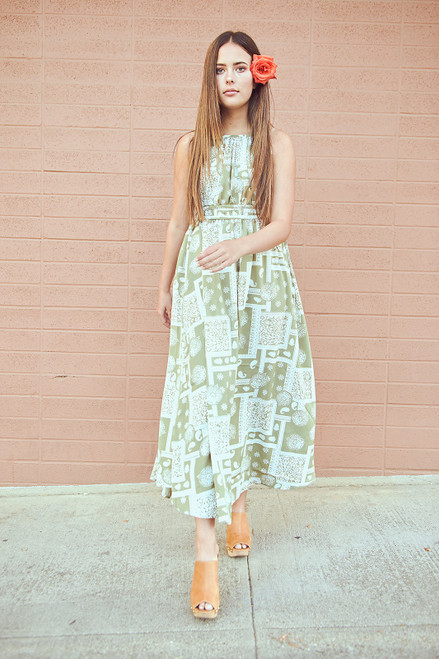 Saunter Dress - Olive