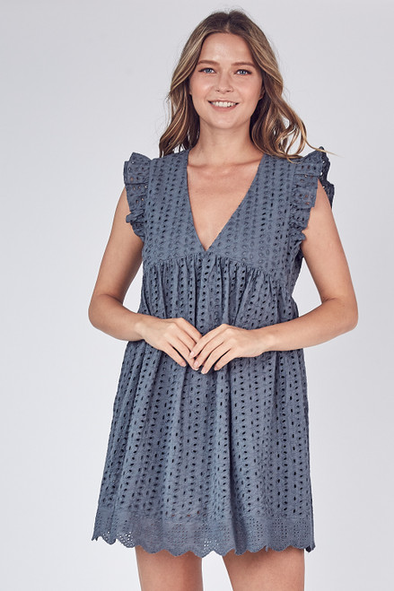 Keep Up Dress - Charcoal