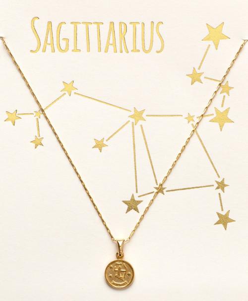 Tiny Zodiac Medallion - Sagitarius