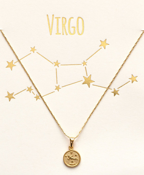 Tiny Zodiac Necklace - Virgo