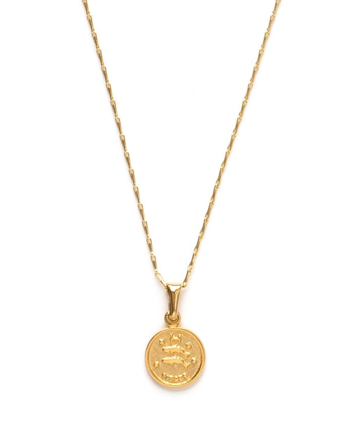 Tiny Zodiac Medallion - Pisces