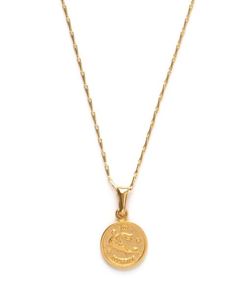 Tiny Zodiac Medallion - Aquarias
