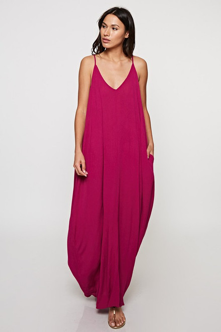 Cocoon Dress - Purple Wine