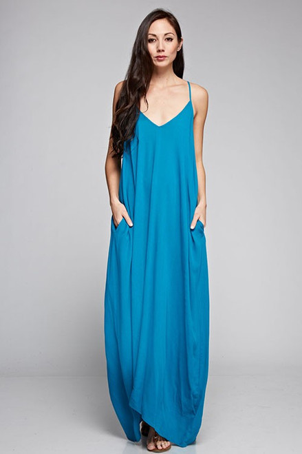 Cocoon Dress - Turquoise