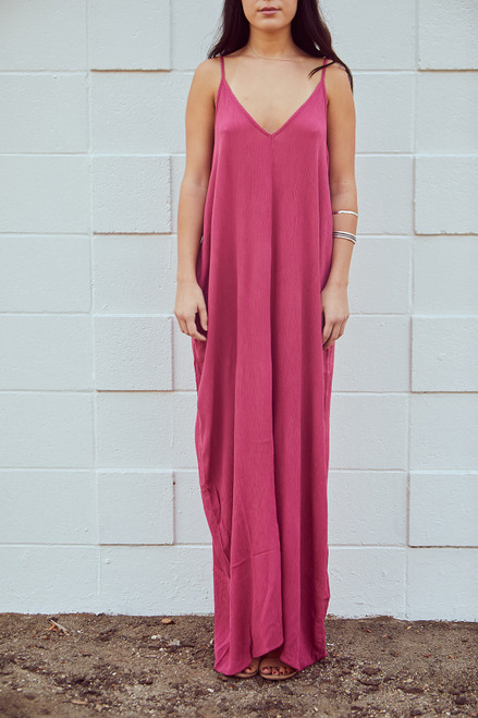 Cocoon Dress - Rose Wine