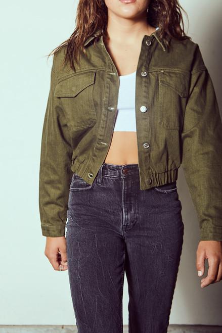 Twill Bomber Jacket - Olive