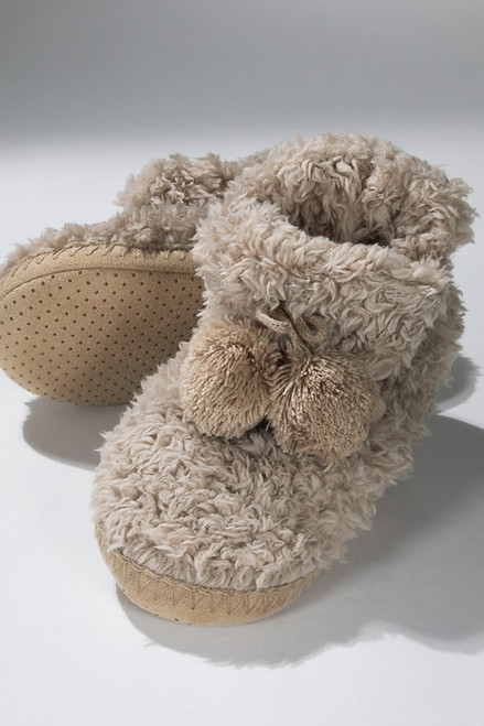Snuggle Up Slippers - Taupe