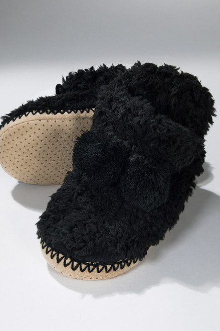 Snuggle Up Slippers - Black