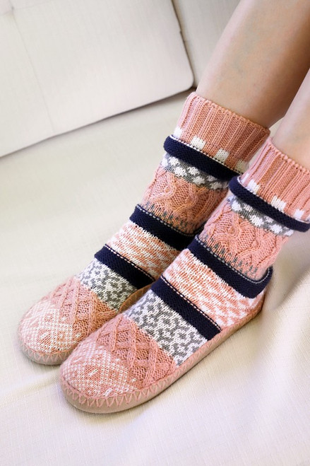 Nordic Knit Slipper - Blush
