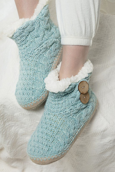 Coconut Button Slipper - Mint