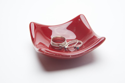 Local Glass Dish - Opaque Ruby