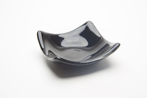 Local Glass Dish - Opaque Black