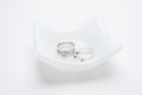 Local Glass Dish - Opaque White