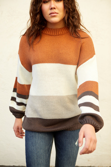 Spencer Sweater - Rust/ivory
