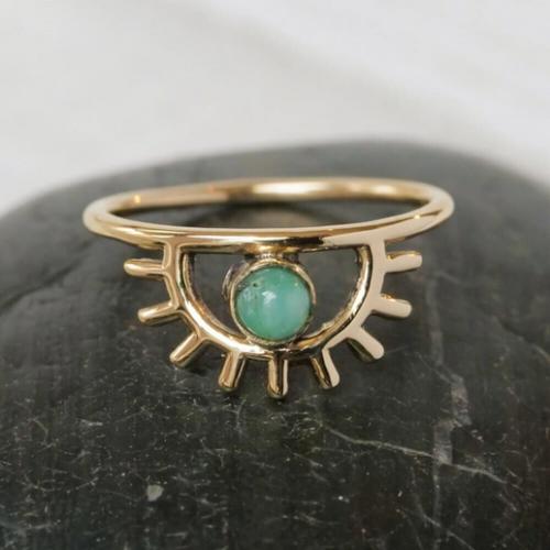 Brass Sunrise Ring