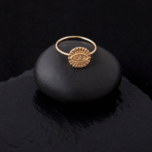 Sun Sparkle Ring - Gold