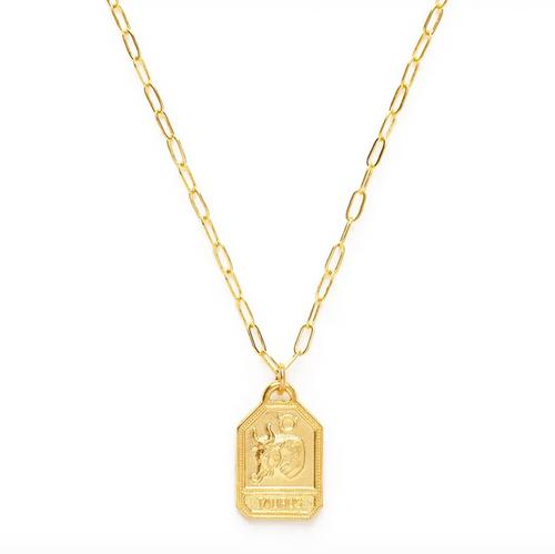 Zodiac Medallions Dog Tag Style - Aquarius