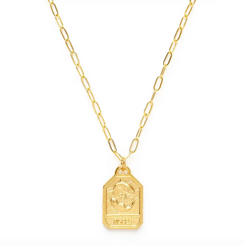 Zodiac Dog Tag Medallion  - Pisces