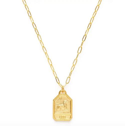 Zodiac Dog Tag Medallion  - Leo