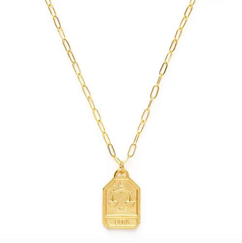 Zodiac Dog Tag Medallion  - Libra