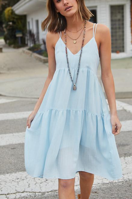 Waterloo Dress- Light Blue