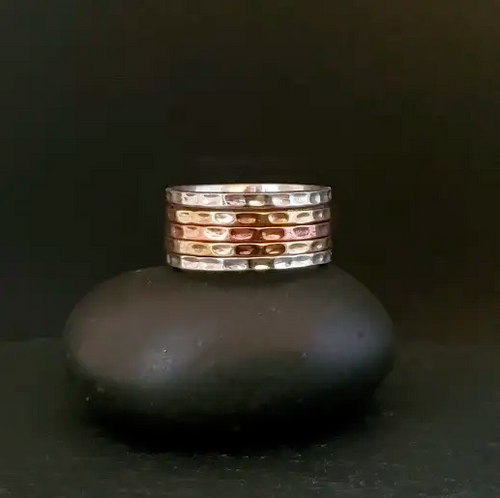 Copper and Sterling Silver Meditation Ring