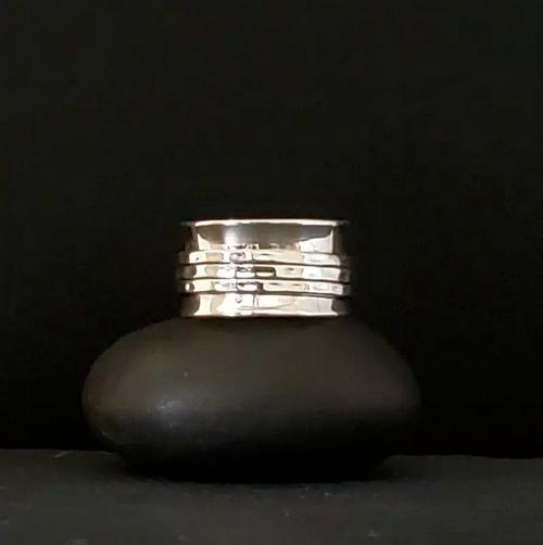 Trifecta Sterling Silver Meditation Ring