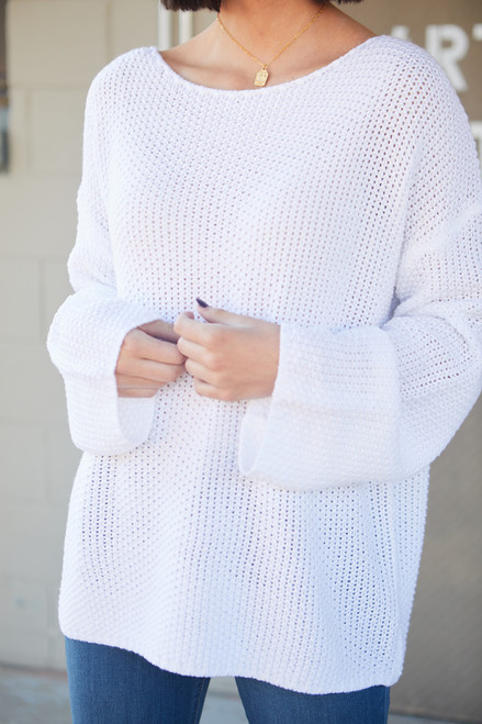 Sweet and Low Sweater - White