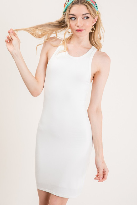 Double Layer Tank Dress - Ivory