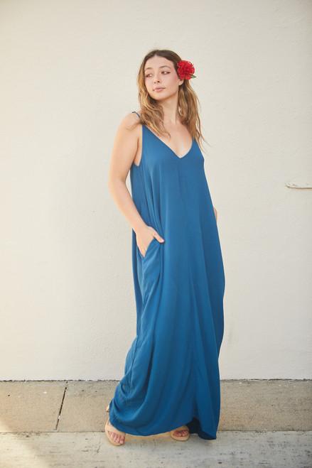 Cocoon Maxi Dress - Deep Turquoise