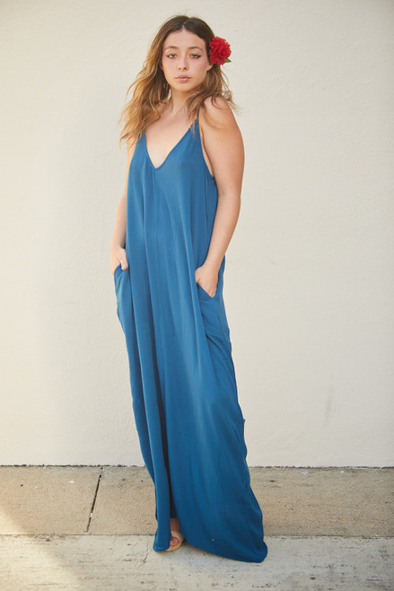 Cocoon Maxi Dress - Deep Turquoise