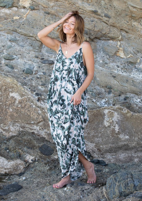 Cocoon Maxi Dress - Olive