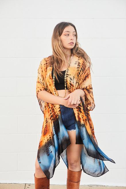 Tie Dye Ombre Kimono