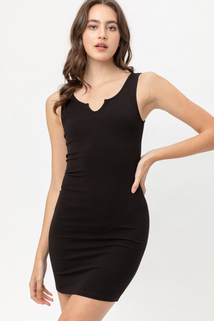 Layla Tank Dress - Black