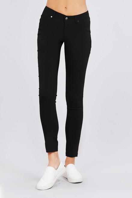 Low Rise 5 Pocket Pant - Black