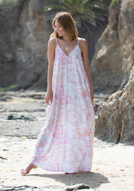 Cocoon Maxi Dress - Coral Grey