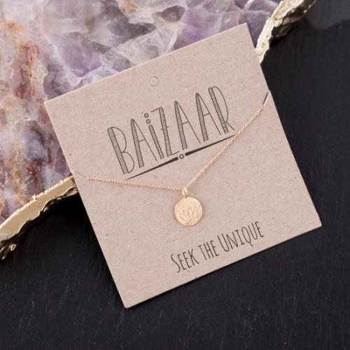 Lotus Stamp Necklace