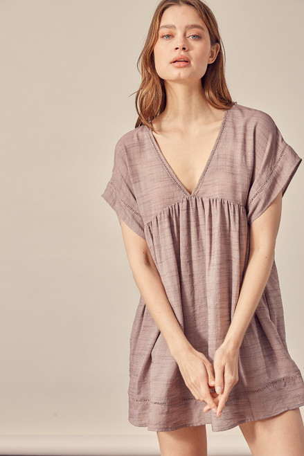 """WOVEN DRESS AND ROMPER LINED.  Size + Fit  - Model is wearing size S - Measurements taken from size S - 5'9"""" / 175CM - 32-24-34"""