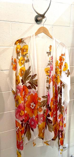 Poppy Kimono - White