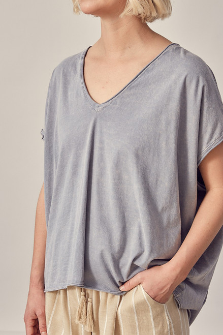 Boxy T-Shirt - Washed Grey