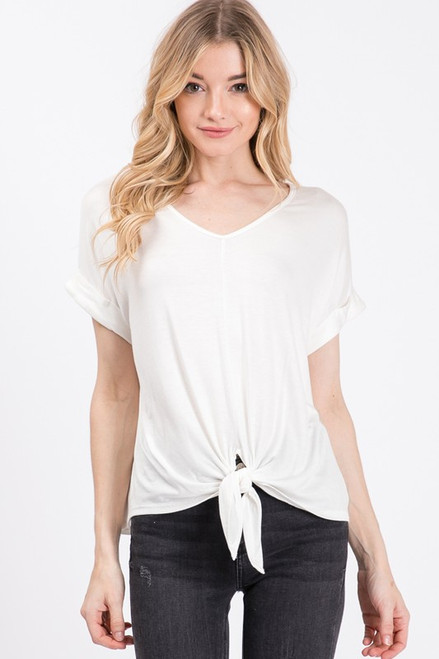 Lucy tie Top - Ivory
