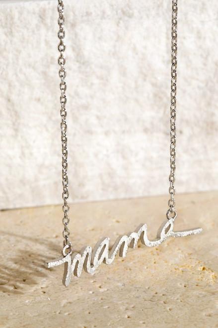 Mama Necklace - Silver