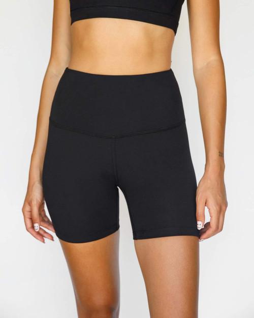 High Waisted biker shorts - Black