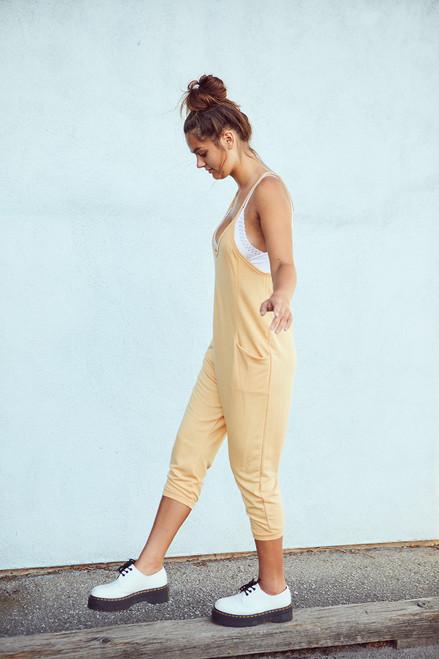 Pocket Jumpsuit - Apricot