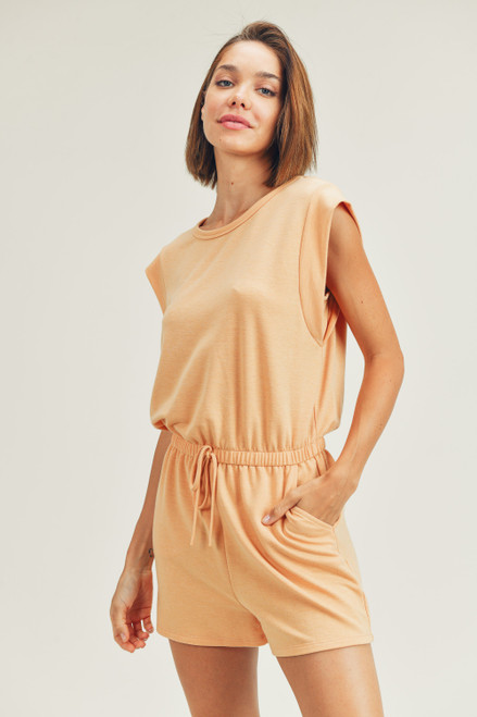 Muscle Romper - Apricot