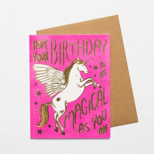 Magical Birthday Unicorn Card